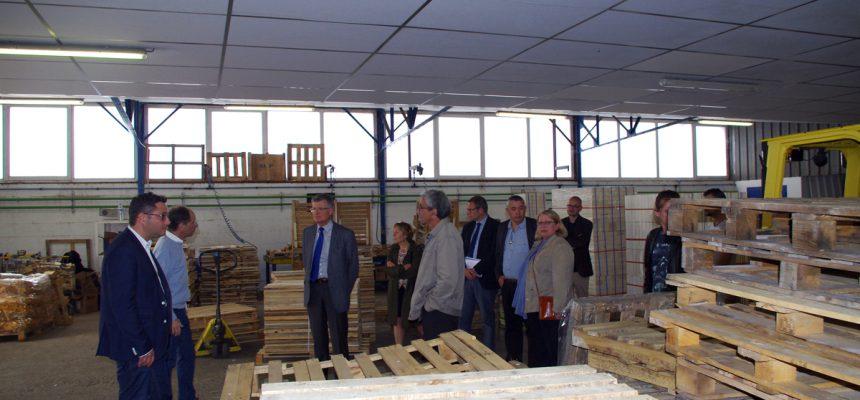 Visite du président du Conseil départemental